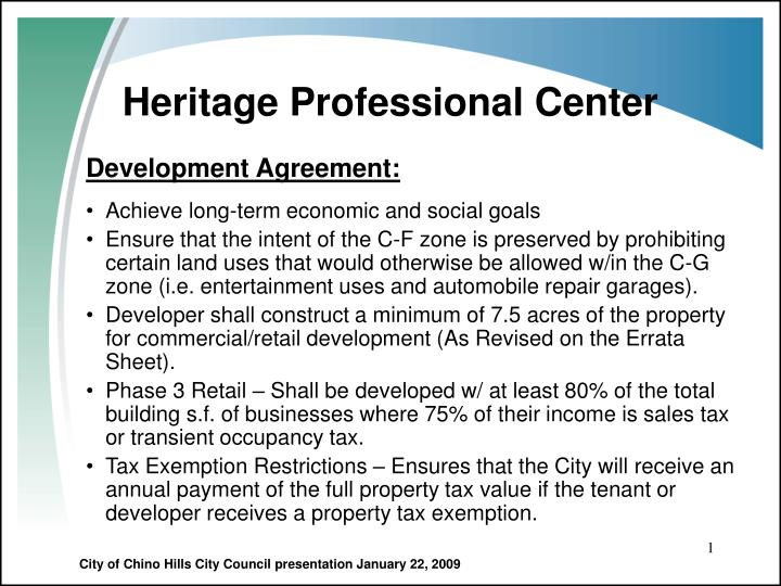 Heritage professional center