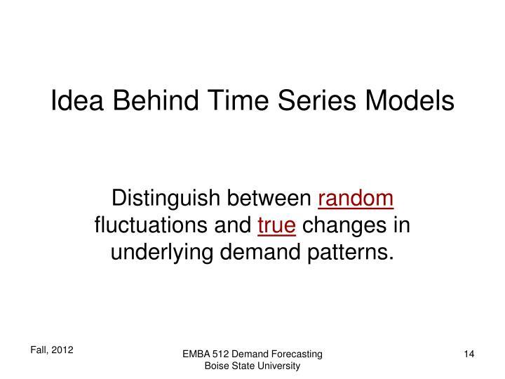 Idea Behind Time Series Models