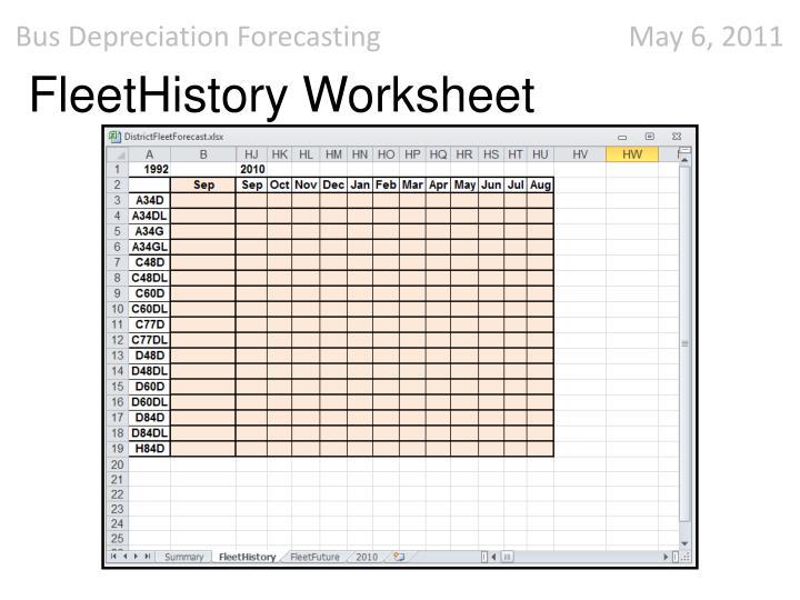 FleetHistory Worksheet