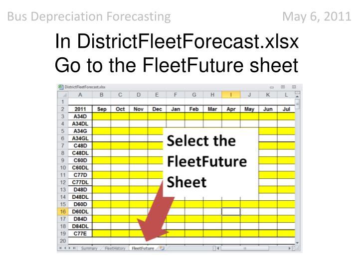 In DistrictFleetForecast.xlsx