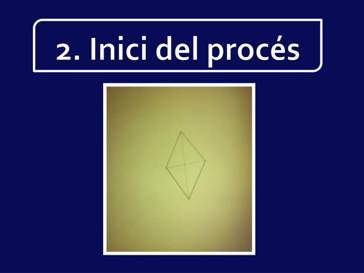 2. Inici del procés