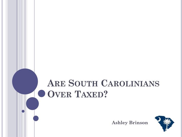 Are south carolinians over taxed