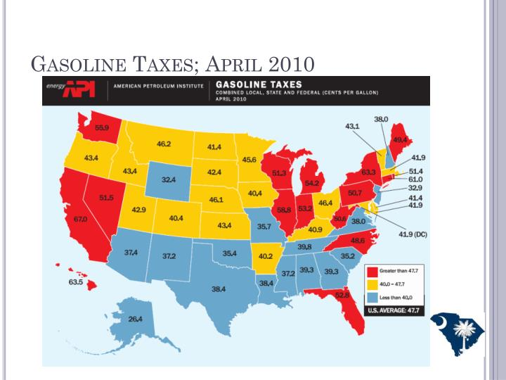 Gasoline Taxes; April 2010