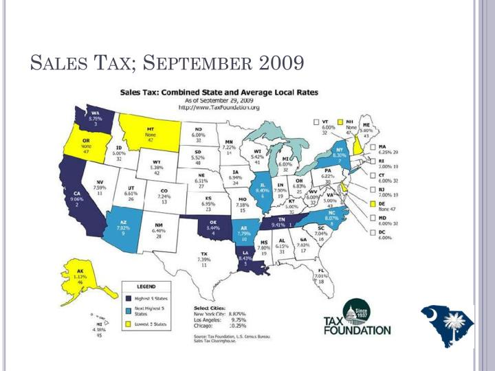 Sales Tax; September 2009