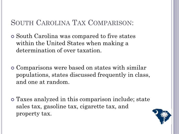 South Carolina Tax Comparison: