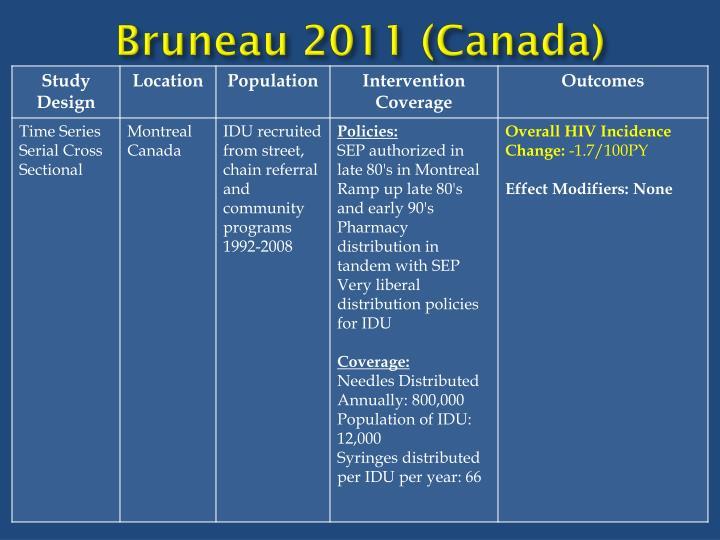 Bruneau 2011 (Canada)