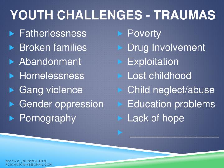 YOUTH CHALLENGES