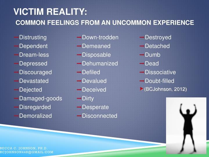 Victim Reality: