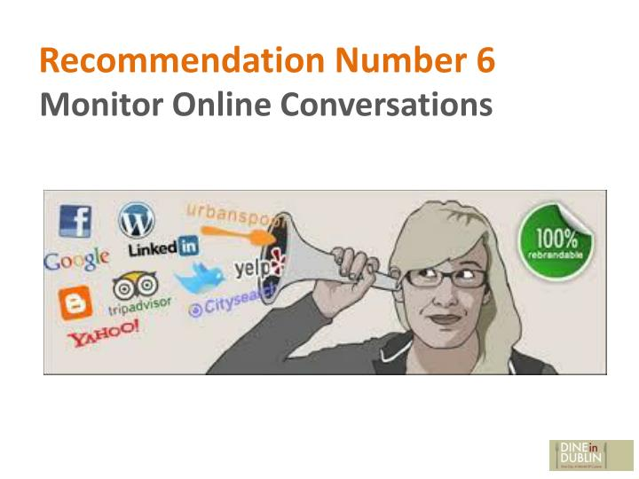 Recommendation Number 6