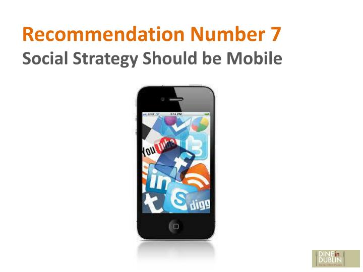 Recommendation Number 7