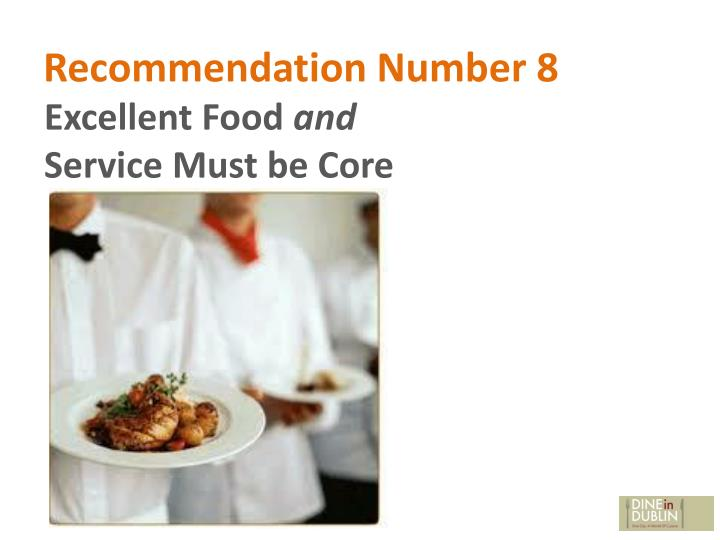 Recommendation Number 8