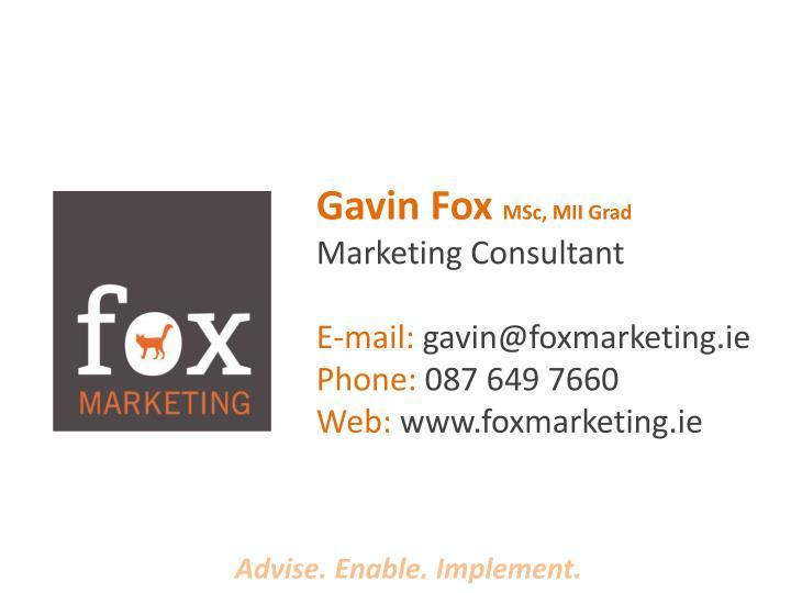 Gavin Fox