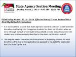 state agency section meeting sunday march 2 2014 9 45 am 12 00 pm1