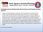 state agency section meeting sunday march 2 2014 9 45 am 12 00 pm2