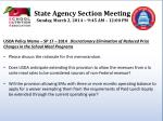 state agency section meeting sunday march 2 2014 9 45 am 12 00 pm4