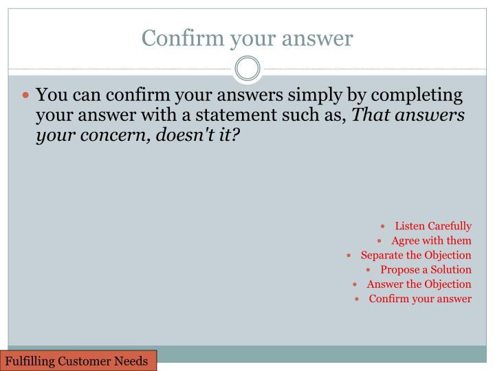Confirm your answer