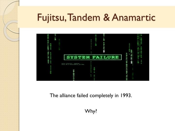 Fujitsu, Tandem &