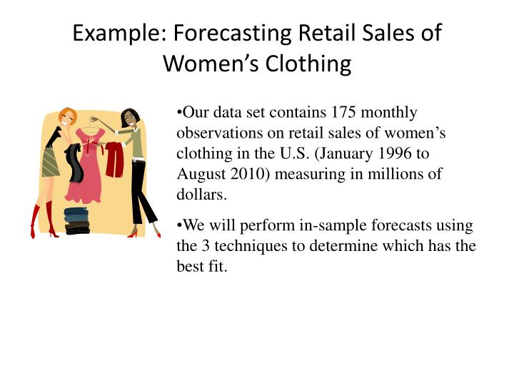Example: Forecasting Retail Sales of Women's Clothing