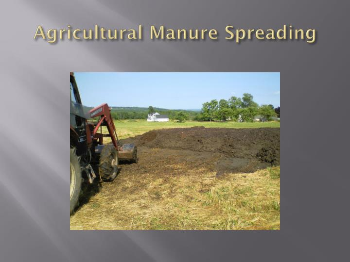 Agricultural Manure Spreading