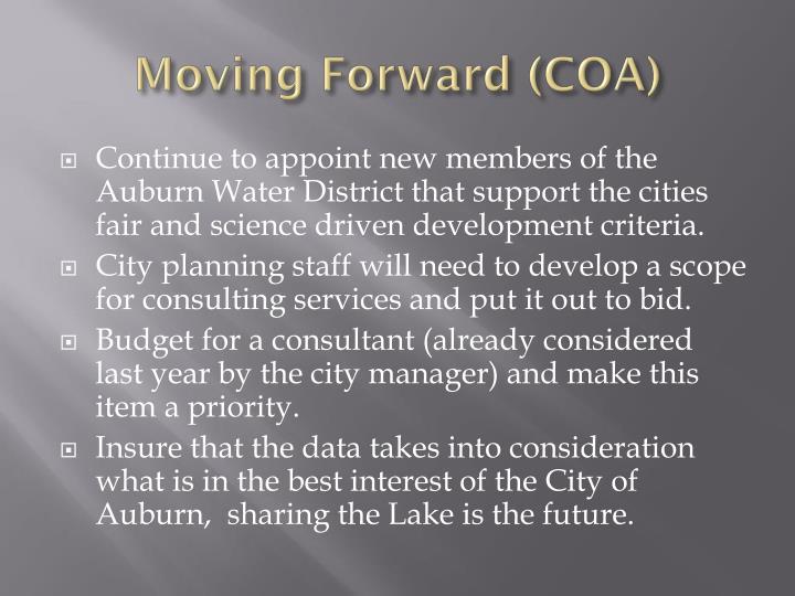 Moving Forward (COA)