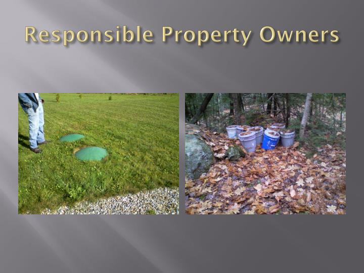 Responsible Property Owners