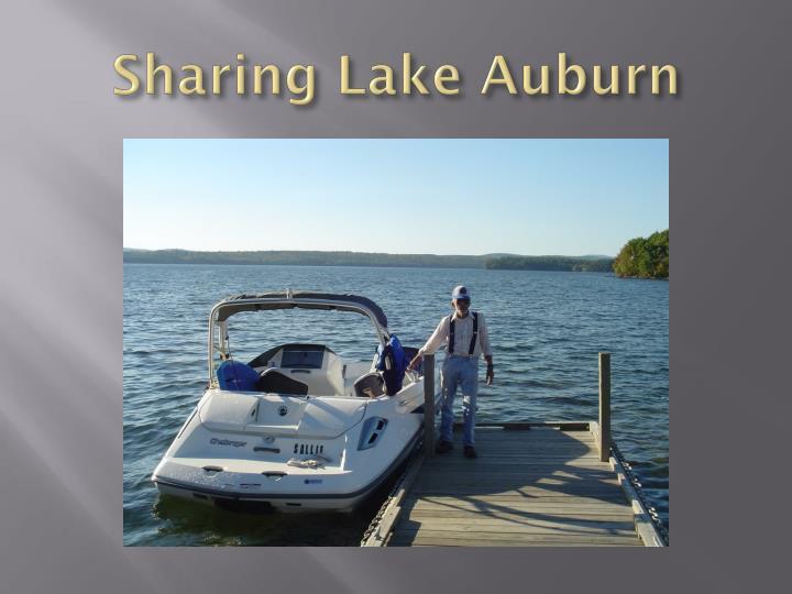 Sharing Lake Auburn