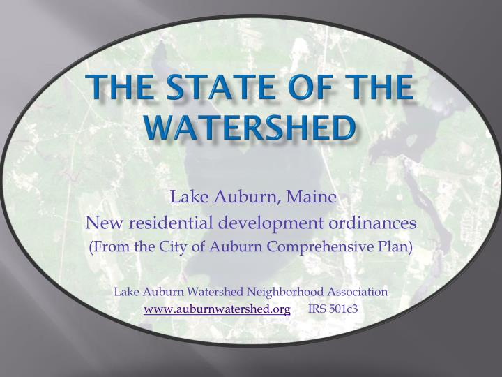 THE STATE OF THE  Watershed
