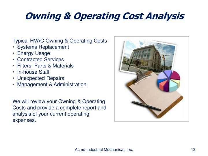 Owning & Operating Cost Analysis