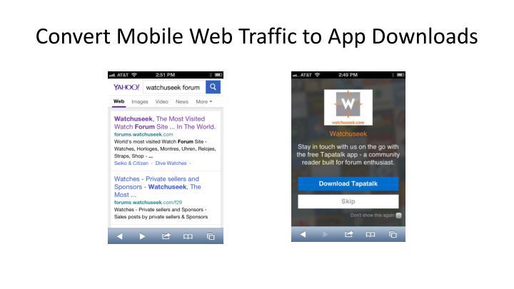 Convert Mobile Web Traffic to App Downloads