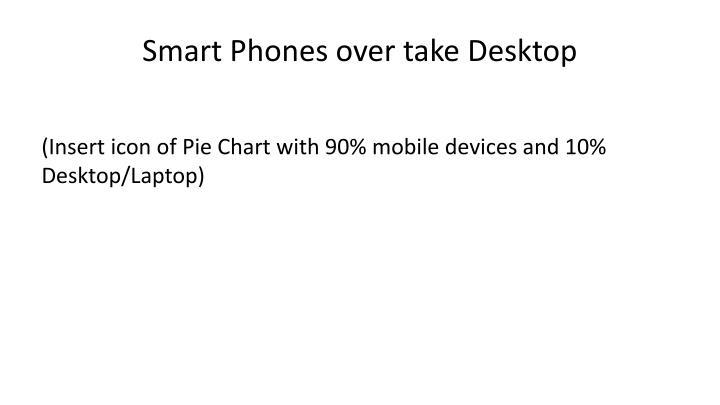 Smart Phones over take Desktop