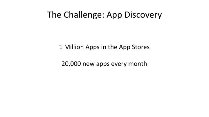 The Challenge: App Discovery