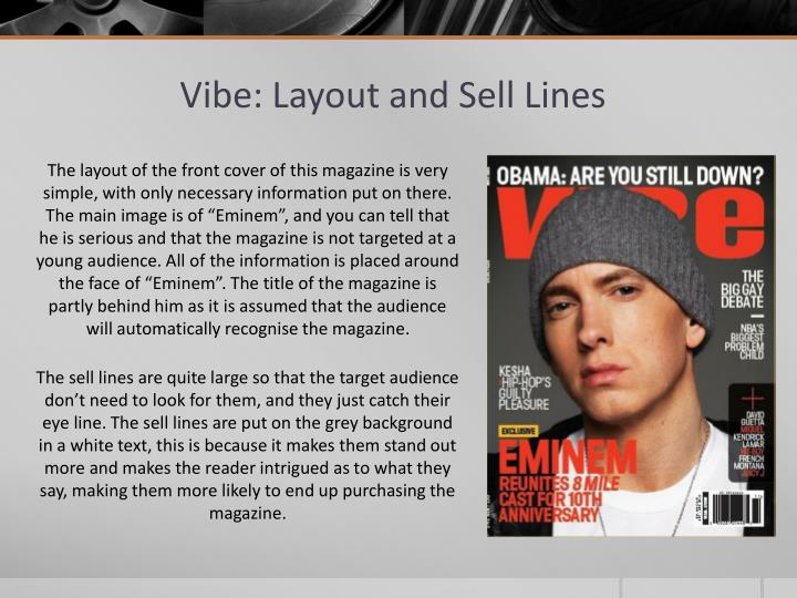 Vibe: Layout and Sell Lines