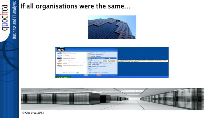 If all organisations were the same
