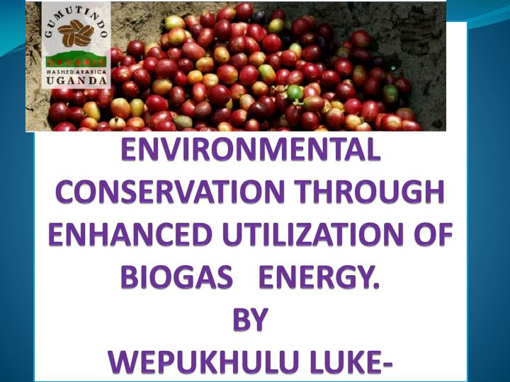 ENVIRONMENTAL CONSERVATION THROUGH ENHANCED UTILIZATION OF BIOGAS   ENERGY.