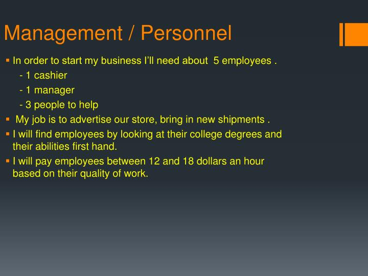 Management / Personnel