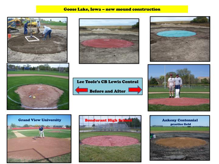 Goose Lake, Iowa – new mound construction