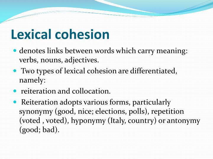 Lexical cohesion