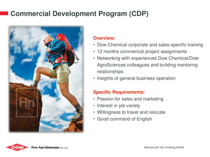 Commercial Development Program (CDP)