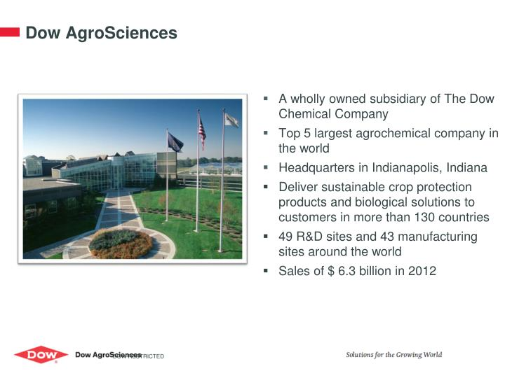 D ow agrosciences