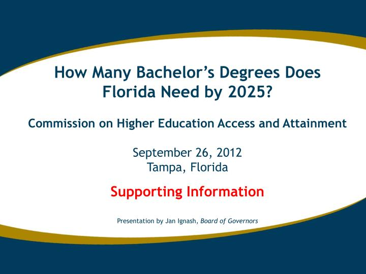 How Many Bachelor's Degrees Does Florida Need by 2025?