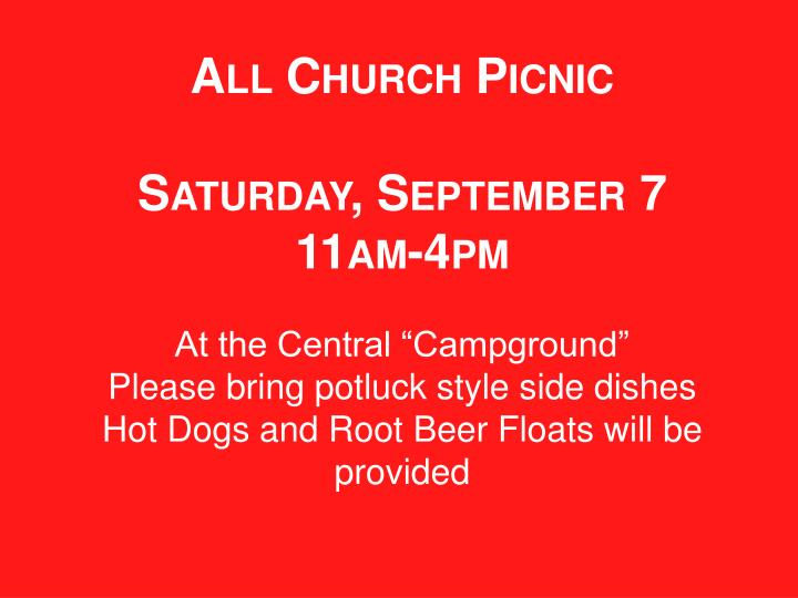 All Church Picnic