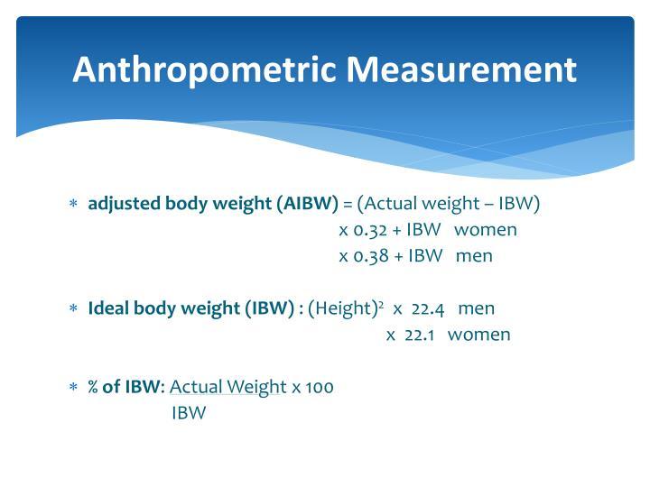 Anthropometric Measurement