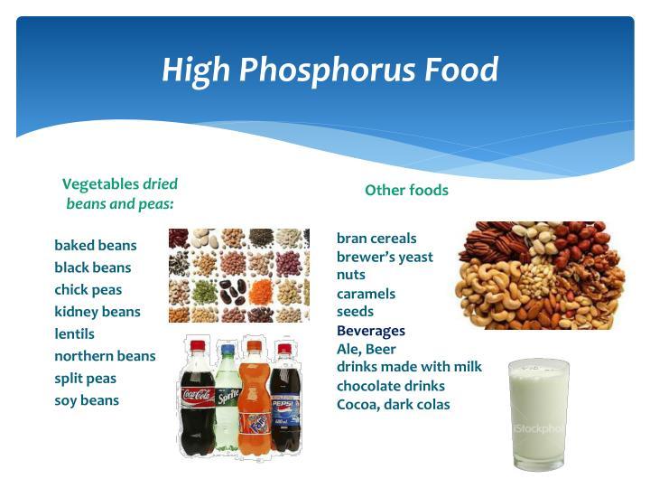 High Phosphorus Food