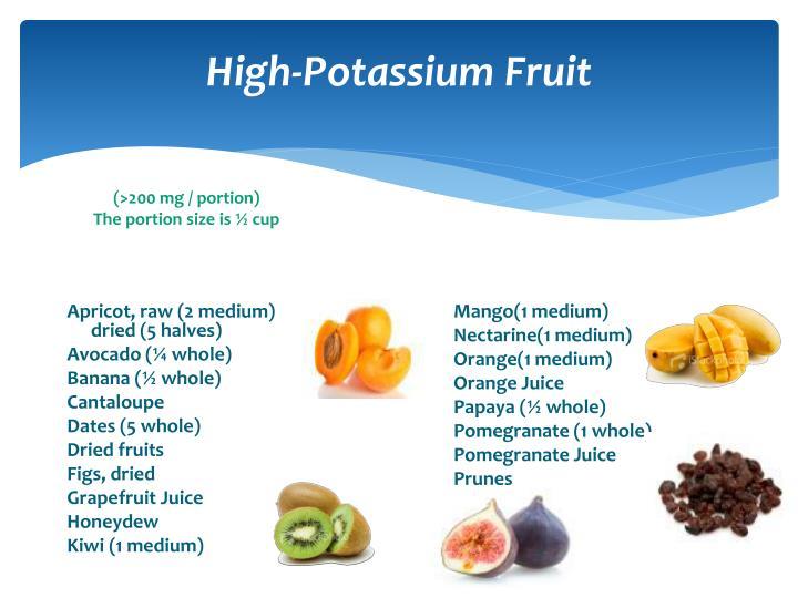 High-Potassium Fruit