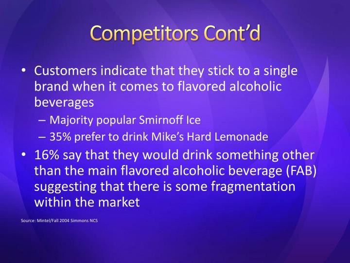 Competitors Cont'd