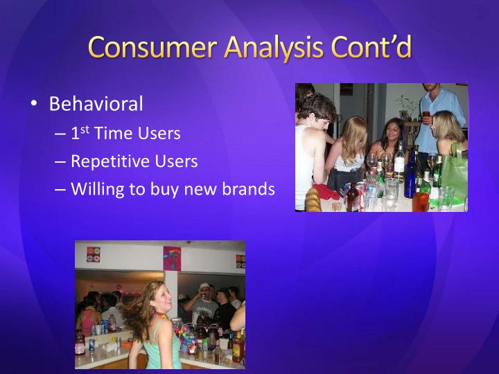 Consumer Analysis Cont'd