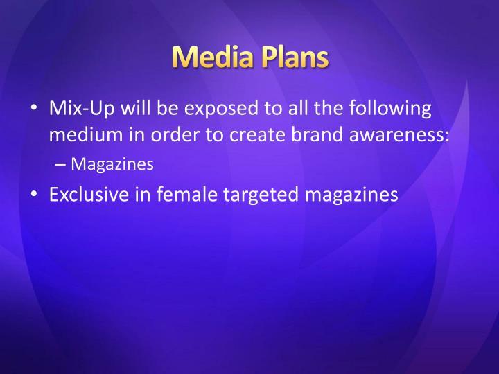 Media Plans