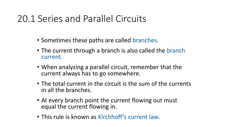 20.1 Series and Parallel Circuits
