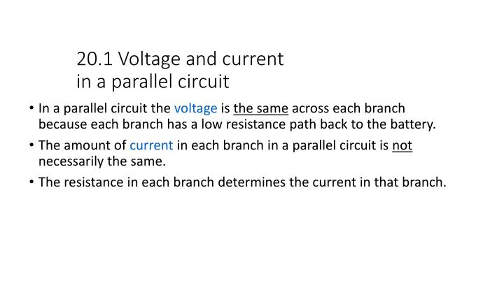 20.1 Voltage and current