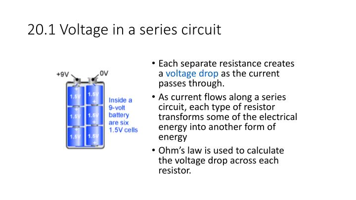 20.1 Voltage in a series circuit